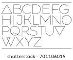 slim elegant type. modern... | Shutterstock .eps vector #701106019