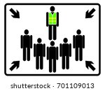 assembly point sign on white... | Shutterstock .eps vector #701109013