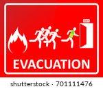 emergency evacuation sign.... | Shutterstock .eps vector #701111476