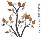 modern fall autumn leaves...   Shutterstock .eps vector #701113894