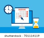 dates and deadlines banner.... | Shutterstock .eps vector #701114119