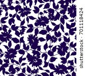 flower pattern | Shutterstock .eps vector #701118424