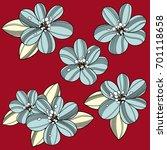 flower illustration | Shutterstock .eps vector #701118658