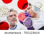 scientists researching in... | Shutterstock . vector #701123614