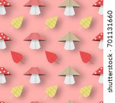 autumn origami pattern with... | Shutterstock .eps vector #701131660
