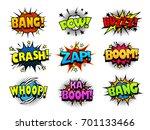 comic book explosion sound... | Shutterstock .eps vector #701133466