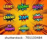vector sound effect icons set ... | Shutterstock .eps vector #701133484