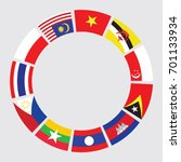 vector of south east asia flag... | Shutterstock .eps vector #701133934