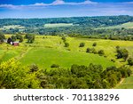american farmland with blue... | Shutterstock . vector #701138296