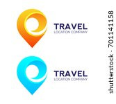 abstract logo design travel... | Shutterstock .eps vector #701141158