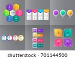 collection of infographic... | Shutterstock .eps vector #701144500