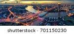 the bhumibol bridge  industrial ... | Shutterstock . vector #701150230