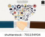 handshake   businessman   icon  ... | Shutterstock .eps vector #701154934