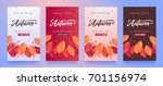 autumn sale background layout... | Shutterstock .eps vector #701156974