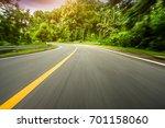 motion blurred highway | Shutterstock . vector #701158060