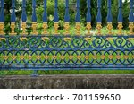 strong steel fence beautiful... | Shutterstock . vector #701159650