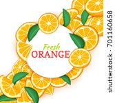 round white frame on citrus... | Shutterstock . vector #701160658