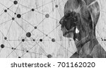 silhouette of a man's head.... | Shutterstock . vector #701162020