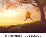 happy funny child under the... | Shutterstock . vector #701165020