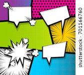 pop art comics book magazine... | Shutterstock .eps vector #701166760