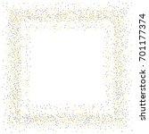 square metallic confetti frame... | Shutterstock .eps vector #701177374