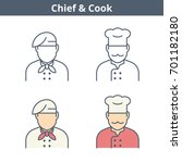 occupations colorful avatar set ... | Shutterstock .eps vector #701182180