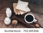 coffee  black coffee  milk ... | Shutterstock . vector #701185306