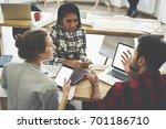 diversity group of creative... | Shutterstock . vector #701186710