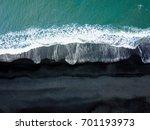 iceland black sand beach vik...   Shutterstock . vector #701193973