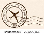 postal stamp  round brown... | Shutterstock .eps vector #701200168