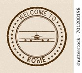 welcome to rome. brown travel... | Shutterstock .eps vector #701200198
