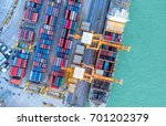 container ship in import export ... | Shutterstock . vector #701202379