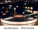 turntable vinyl record player... | Shutterstock . vector #701214166