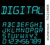 digital font signs made up from ... | Shutterstock .eps vector #701214808