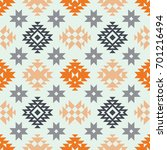 vector seamless ethnic pattern. ... | Shutterstock .eps vector #701216494