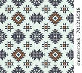 vector seamless ethnic pattern. ... | Shutterstock .eps vector #701216518
