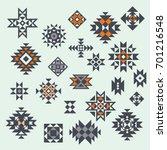 vector aztec style design... | Shutterstock .eps vector #701216548