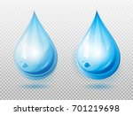 water drop. two variants of a...   Shutterstock .eps vector #701219698