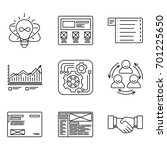 thin lines icons set of...