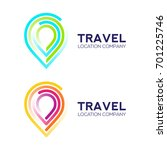 abstract logo design travel... | Shutterstock .eps vector #701225746