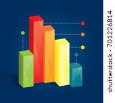 modern business chart with... | Shutterstock .eps vector #701226814