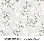 magnolia flower vector...   Shutterstock .eps vector #701229010