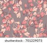 magnolia flower vector... | Shutterstock .eps vector #701229073