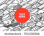 it's a sushi time poster. sushi ...   Shutterstock .eps vector #701230306