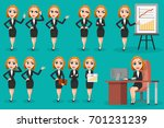 large set of business woman... | Shutterstock . vector #701231239