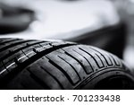tires manufactured in factories ... | Shutterstock . vector #701233438