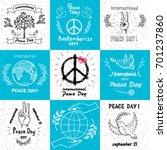 international peace day... | Shutterstock .eps vector #701237860