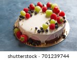 delicious cheesecake with fresh ...   Shutterstock . vector #701239744