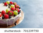 delicious cheesecake with fresh ...   Shutterstock . vector #701239750
