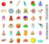 pyramid icons set. cartoon... | Shutterstock .eps vector #701242078